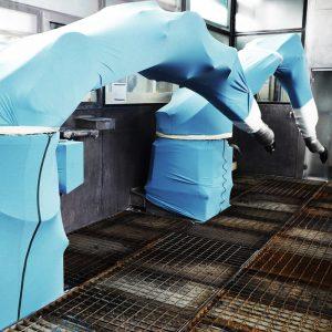 Schutzverkleidung Industrieroboter